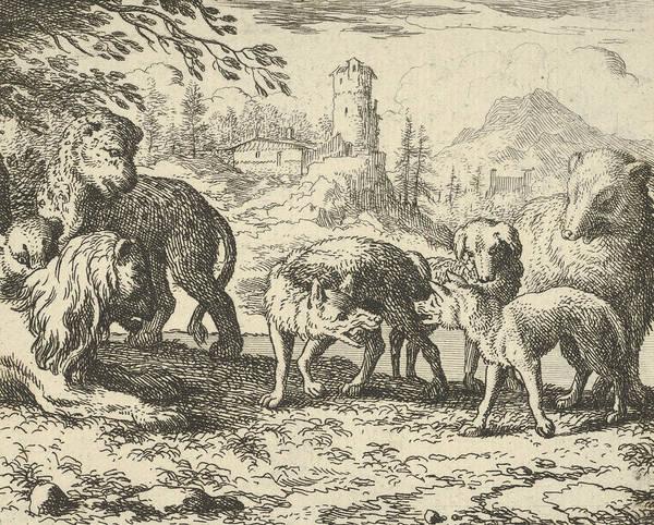Relief - Renard Is Sentenced To Death From Hendrick Van Alcmar's Renard The Fox by Allaert van Everdingen