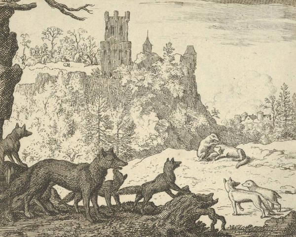 Relief - Renard Leaves With The Badger by Allaert van Everdingen