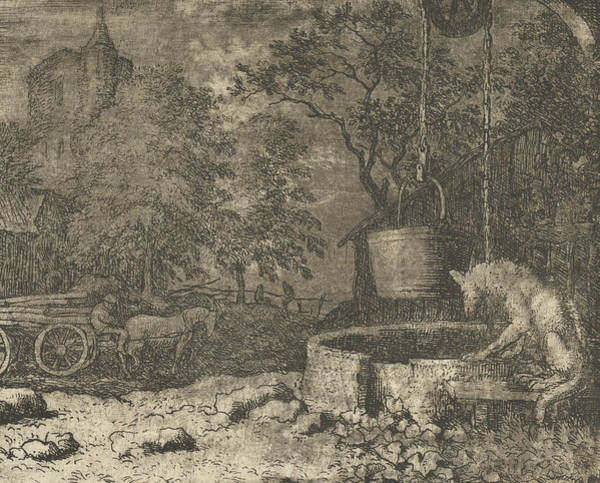 Wall Art - Relief - Renard Plays Another Trick On The She-wolf From Hendrick Van Alcmar's Renard The Fox by Allaert van Everdingen