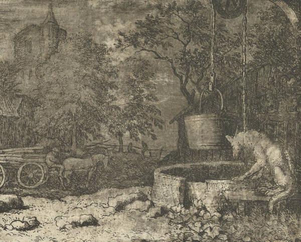 Relief - Renard Plays Another Trick On The She-wolf From Hendrick Van Alcmar's Renard The Fox by Allaert van Everdingen