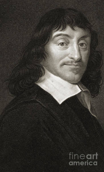 Wall Art - Drawing - Rene Descartes 1596-1650 by English School