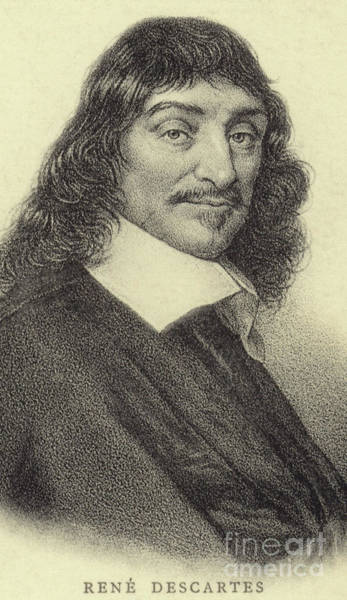 Wall Art - Drawing - Rene Descartes, French Philosopher, Mathematician And Writer by French School