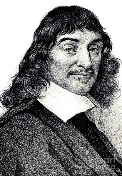 Wall Art - Drawing - Rene Descartes, Litho by European School