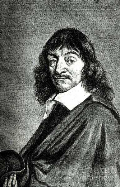 Wall Art - Drawing - Rene Descartes - Portrait by Hals