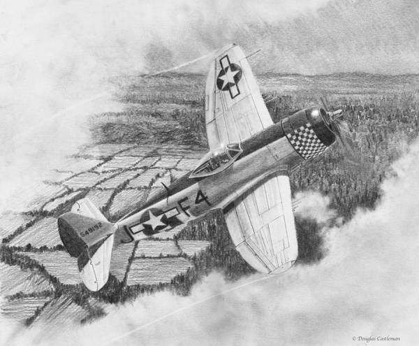 Drawing - Republic P-47d Thunderbolt Drawing by Douglas Castleman