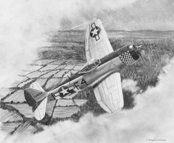 Drawing - Republic P-47d Thunderbolt Drawing by Douglas Castleman