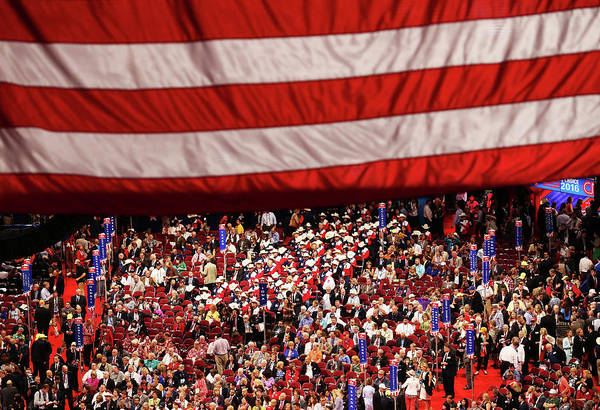 Democracy Photograph - Republican National Convention Day One by John Moore