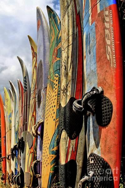 Surfboard Fence Photograph - Repurposed by DJ Florek