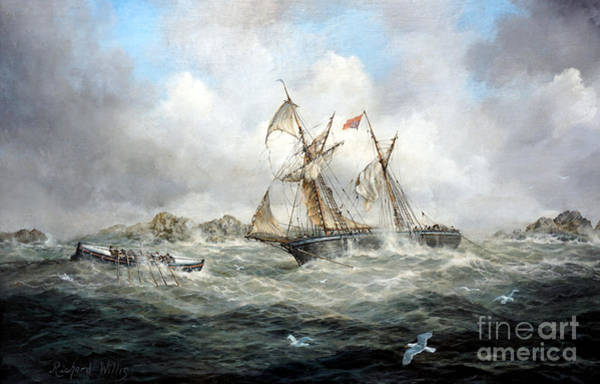 Flying The Flag Wall Art - Painting - Rescue At Last by Richard Willis