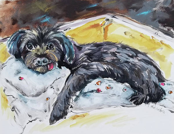 Wall Art - Painting - Rescue Pup Portrait by Kim Guthrie