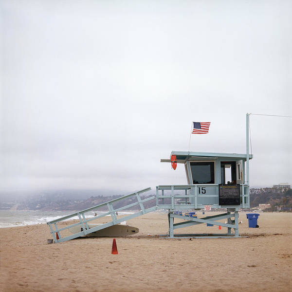 Surf City Usa Photograph - Rescue Tower On The Sea Shore by Andriy Onufriyenko