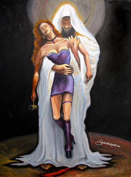 Redeemer Wall Art - Painting - Rescued by Julie Shematz