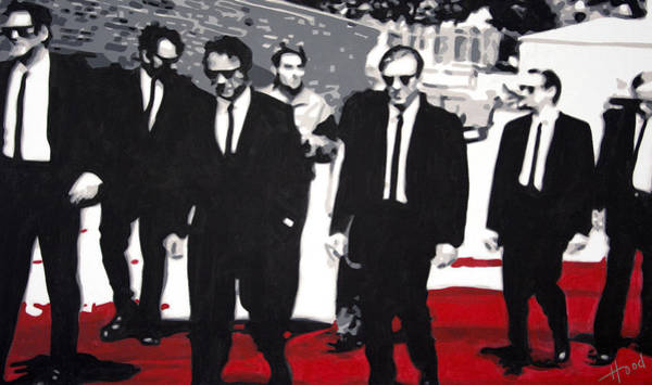 Reservoir Dogs Painting - Reservoir Dogs by Luis Ludzska Hood