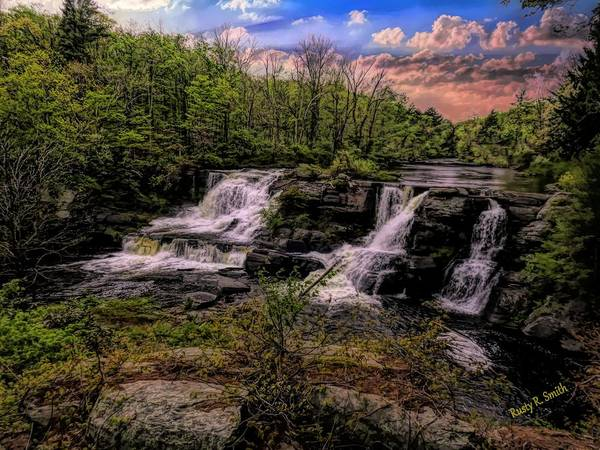 Digital Art - Resica Falls Poconos,pennsylvania. by Rusty R Smith