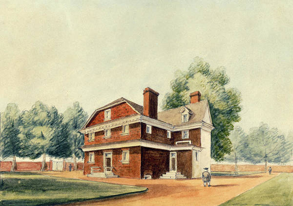 Drawing - Residence Of Chief Justice William Tilghman, Philadelphia, 1826 by William Breton