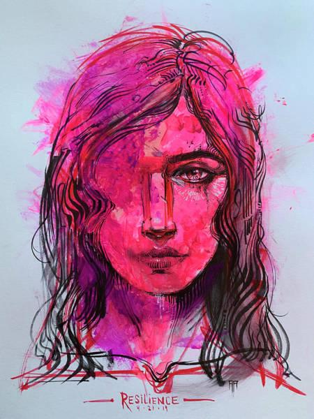 Wall Art - Mixed Media - Resilience by Alex Ruiz