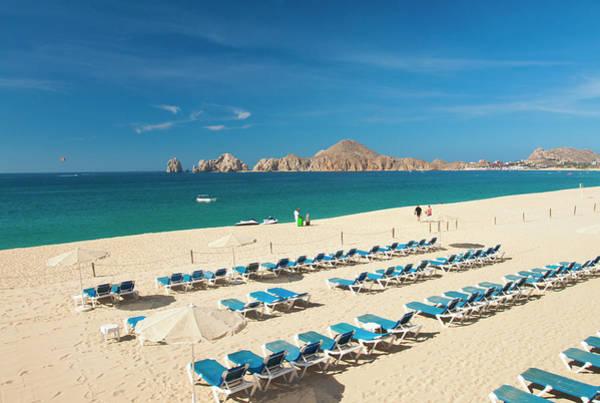 Sunshade Photograph - Resort Beach Chairs by Christopher Kimmel