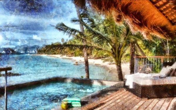 Digital Art - Resort In Paradise by Mario Carini