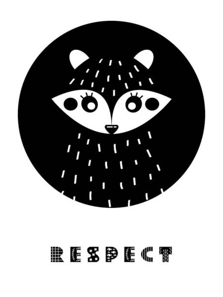 Wall Art - Painting - Respect Scandinavian Minimalist Poster by Celestial Images