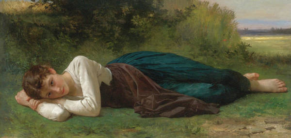Wall Art - Painting - Rest, 1880 by William-Adolphe Bouguereau