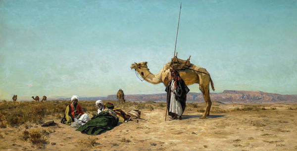 Wall Art - Painting - Rest In The Syrian Desert, 19th Century by Eugen Bracht