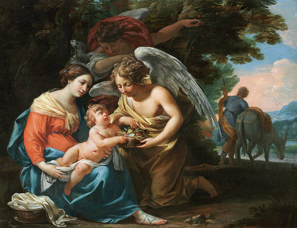 Wall Art - Painting - Rest On The Flight Into Egypt, 1640 by Charles Poerson