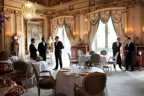 Waiter Photograph - Restaurant Louis Xv At The Hotel De by Maurice Rougemont