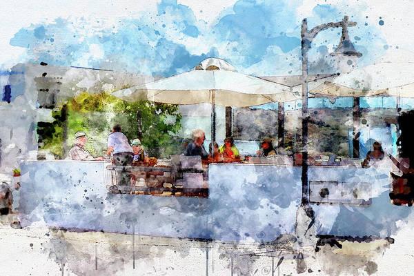 Lanzarote Digital Art - Restaurante El Caleton by Frank Etchells