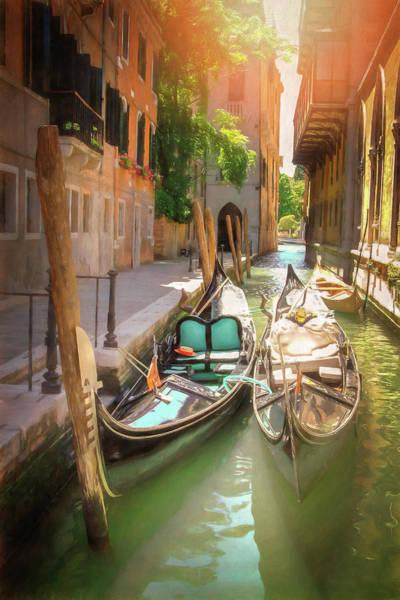 Venezia Photograph - Resting Gondolas Venice Italy  by Carol Japp