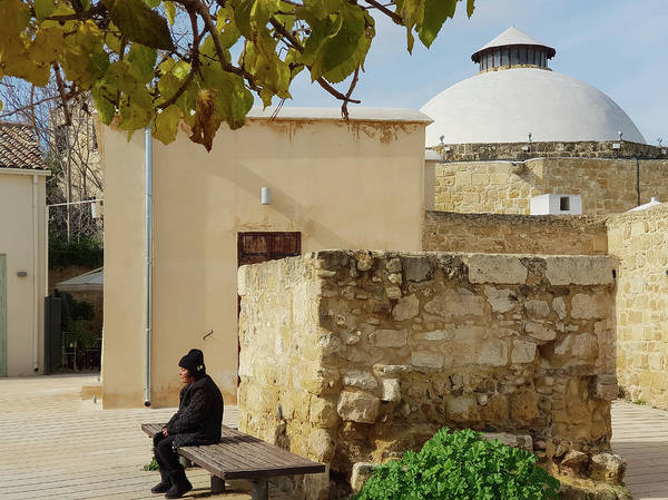 Photograph - Resting On The Bench Outside The Hamam by Iordanis Pallikaras