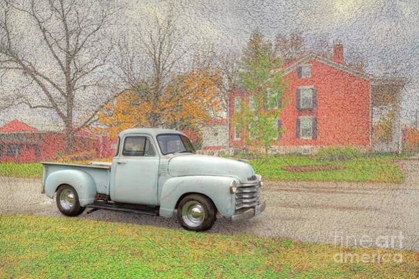 Wall Art - Digital Art - Restored 1948 Chevy Pickup by Larry Braun