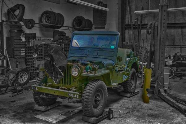 Wall Art - Photograph - Restoring History M 38 Jeep by Don Columbus