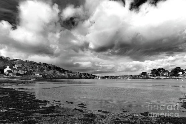 Wall Art - Photograph - Restronguet Weir In Monochrome by Terri Waters