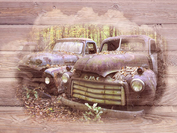 Wall Art - Photograph - Retired In Country Colors by Debra and Dave Vanderlaan