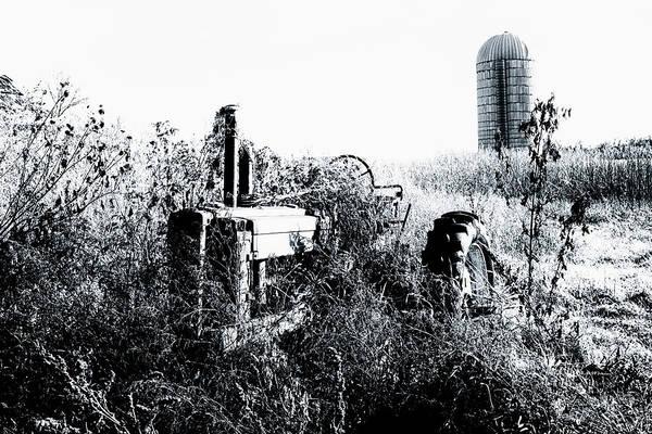 Photograph - Retired John Deere Tractor 1 by Jim Thompson