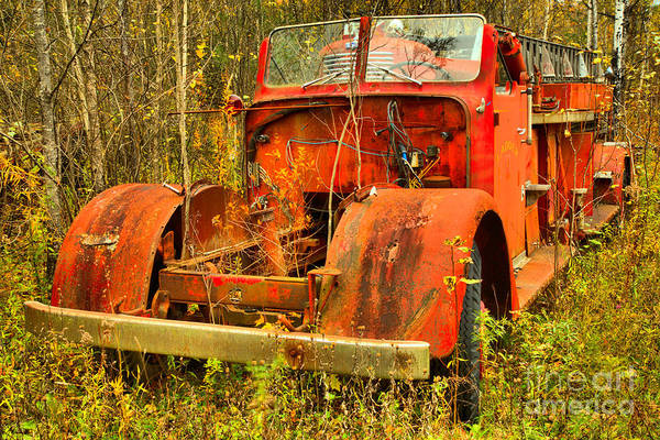 Photograph - Retired Vermont Fire Truck by Adam Jewell