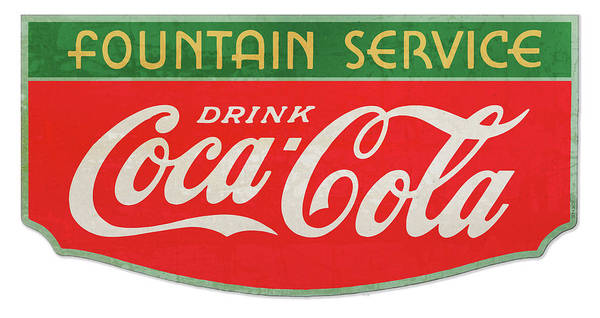 Wall Art - Drawing - Retro Coke Sign by Greg Joens