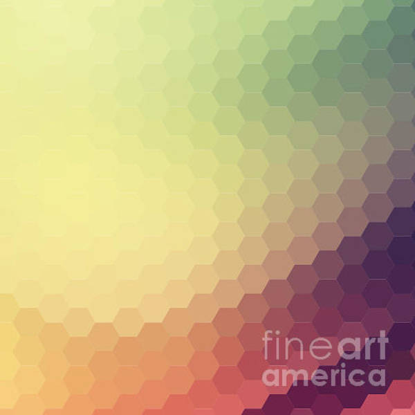 Wall Art - Digital Art - Retro Colorful Background by Melamory