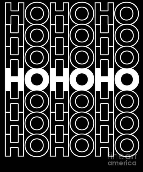 Digital Art - Retro Ho Ho Ho Santa Christmas by Flippin Sweet Gear