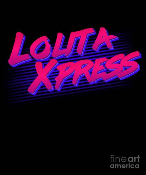 Digital Art - Retro Lolita Express by Flippin Sweet Gear