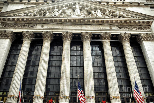 Photograph - Retro New York Stock Exchange In New York City by John Rizzuto