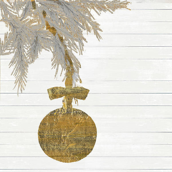 Wall Art - Painting - Retro Ornament On Stripes by Patricia Pinto