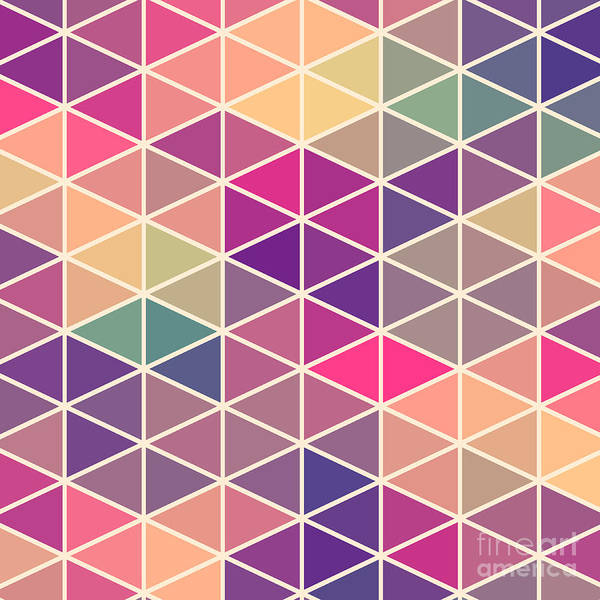 Wall Art - Digital Art - Retro Pattern Of Geometric Shapes by Markovka