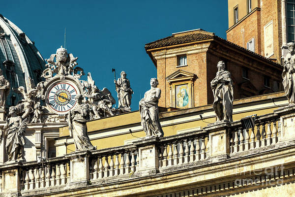Photograph - Retro Saint Peter's Basilica In Vatican City by John Rizzuto