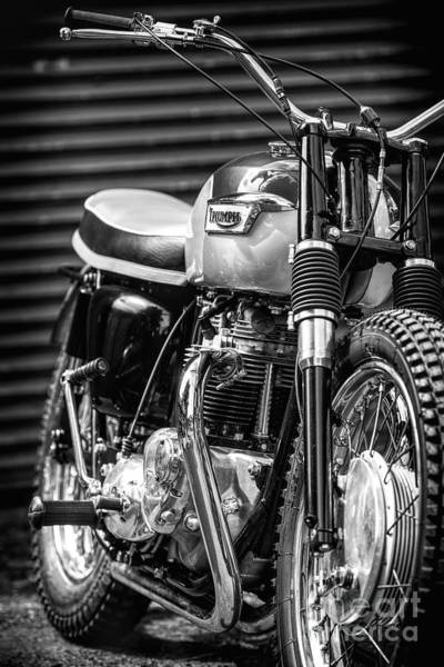 Wall Art - Photograph - Retro Triumph Monochrome by Tim Gainey