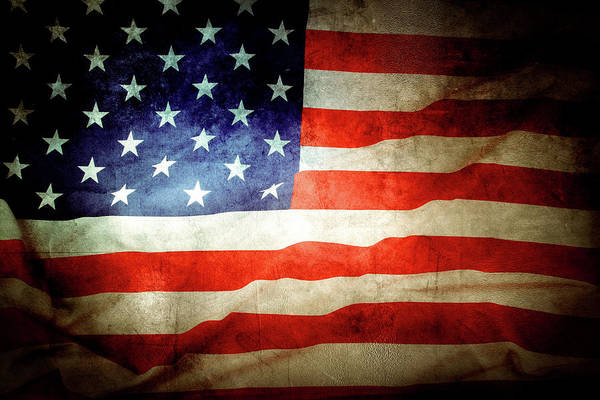 Wall Art - Photograph - Retro U.s. Flag by Les Cunliffe