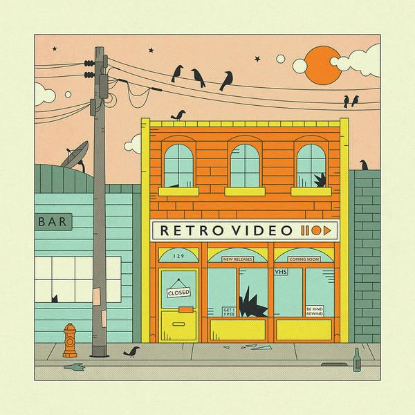 Wall Art - Digital Art - Retro Video Store by Jazzberry Blue