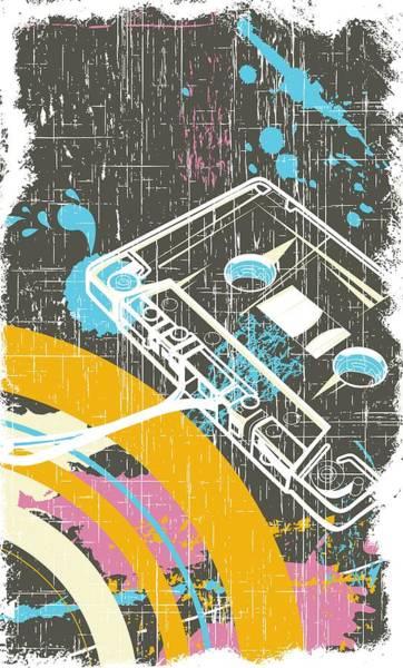 Digital Art - Retro Vintage Classic Cassette by Passion Loft