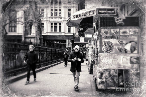 Photograph - Retro Walk In Old New York City by John Rizzuto
