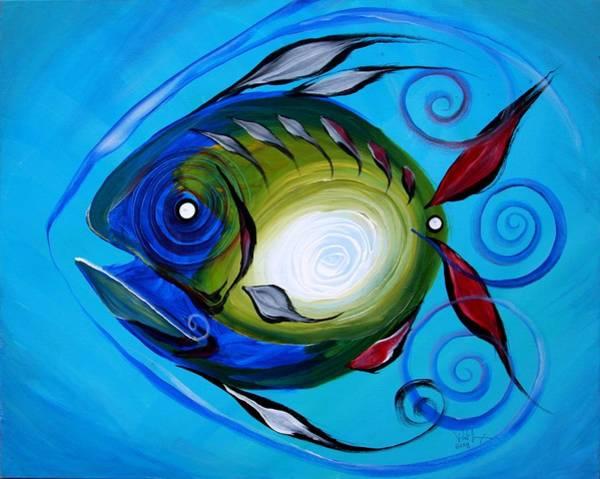 Painting - Return Fish by J Vincent Scarpace